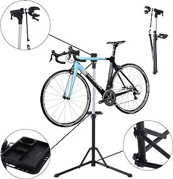 Soporte Homcom para reparar bicicleta, plegable, ajustable, hecho ...