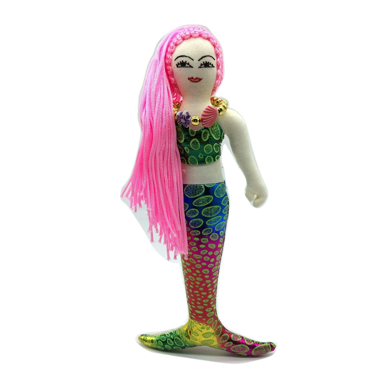 Light Pink I Sara ABT Handmade Andaman Sea Rainbow Mermaid Doll Fairy Tale Plush Art /& Craft Shimmer Fabrics Collection Decoration /& Gift