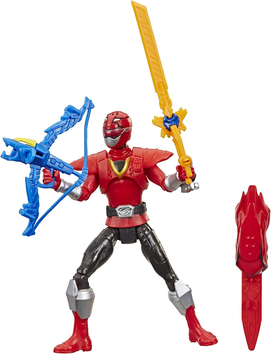 """Power Rangers Beast Morphers Beast-X Red Ranger 6"""" Action Figure Toy Inspired by The TV Show"""