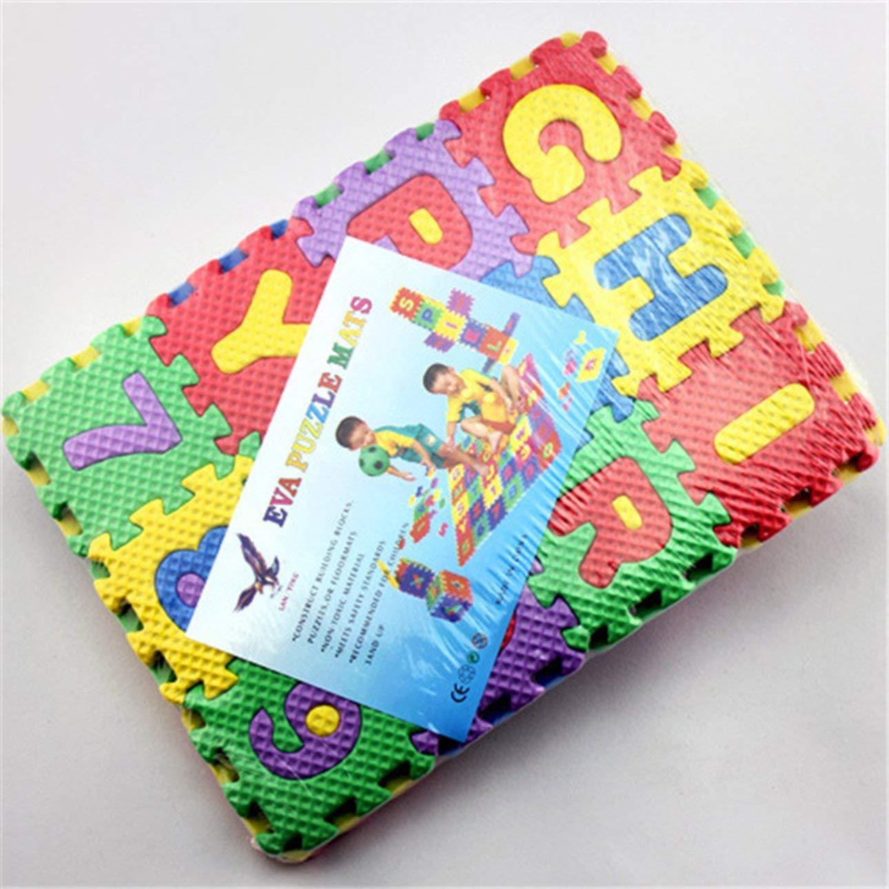 Ballylelly Puzzle in Schiuma Eva per Bambini Tappetino da Gioco per Bambini Tappeti Tappeto ad Incastro Piano per Esercizi Pavimento per Bambini Puzzle Tappeto Piastrelle