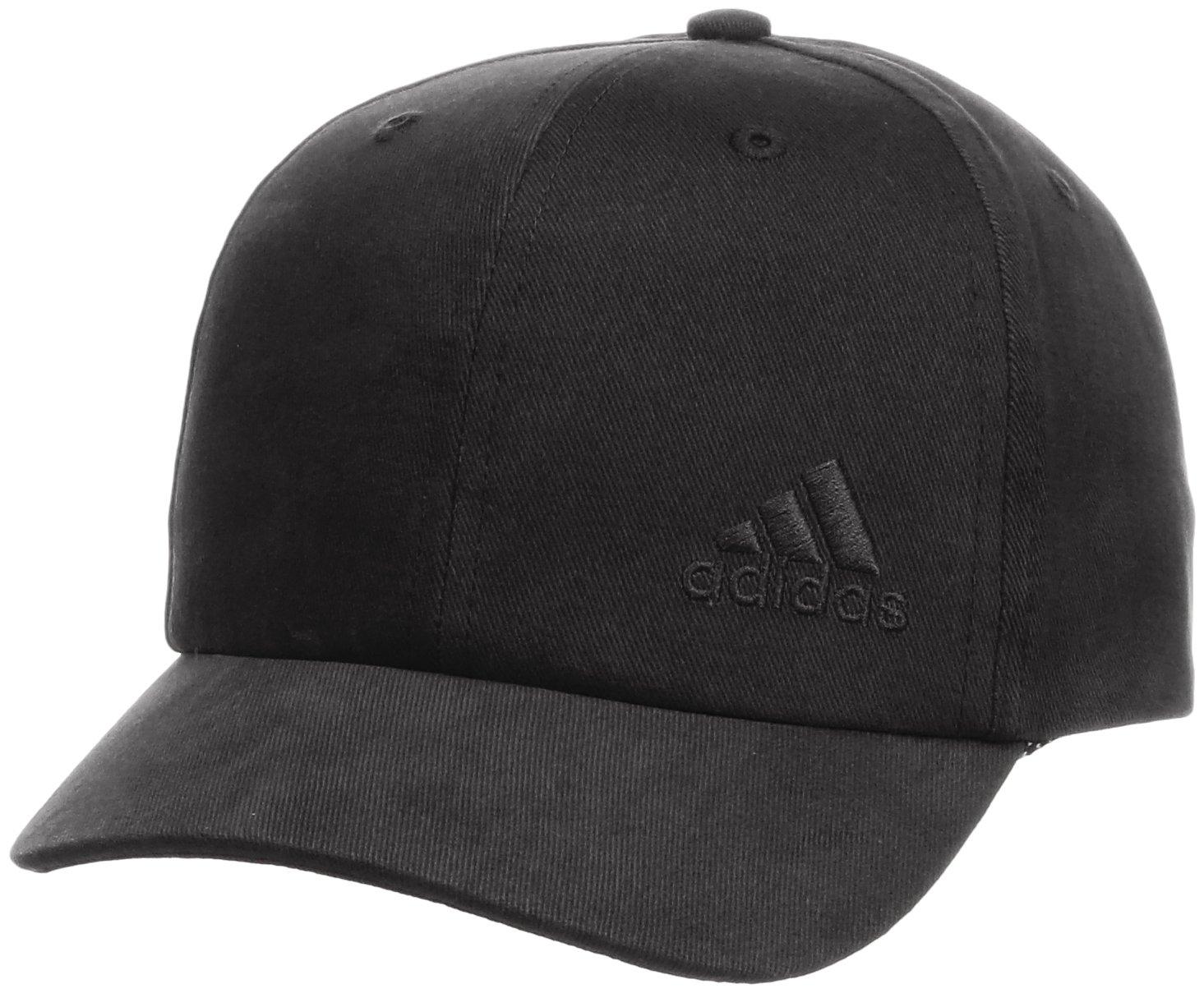 Adidas Girl's Six-Panel Cap - Black/Black/Black, One Size