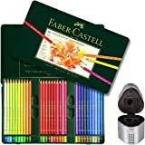 Faber Castell Premium Polychromos 60 Color Pencil Set and Trio Pencil Sharpener Set
