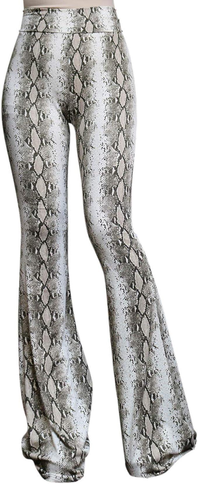 ShopMyTrend SMT Womens High Waist Wide Leg Long Palazzo Bell Bottom Yoga Pants