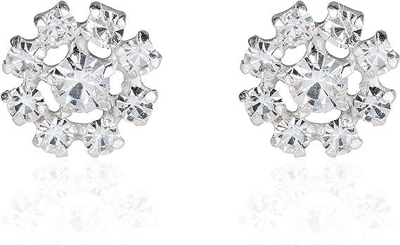 Women/'s 925 Stirling Silver Snowflake Silver Stud Butterfly Fashion Earrings