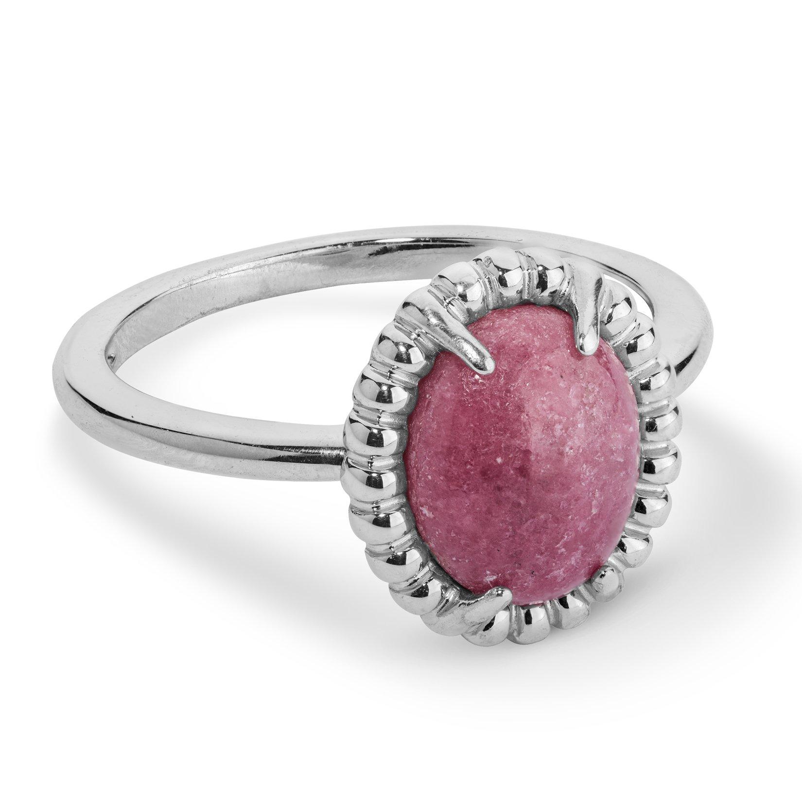 Carolyn Pollack JEN Sterling Silver & Rhodonite Simple Oval Ring