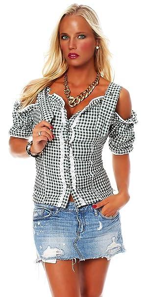 10603 Fashion4Young Damen Dirndlbluse Bluse Trachtenbluse Trachten  Oktoberfest Hemd Lederhose Dirndl 4484f4c82a
