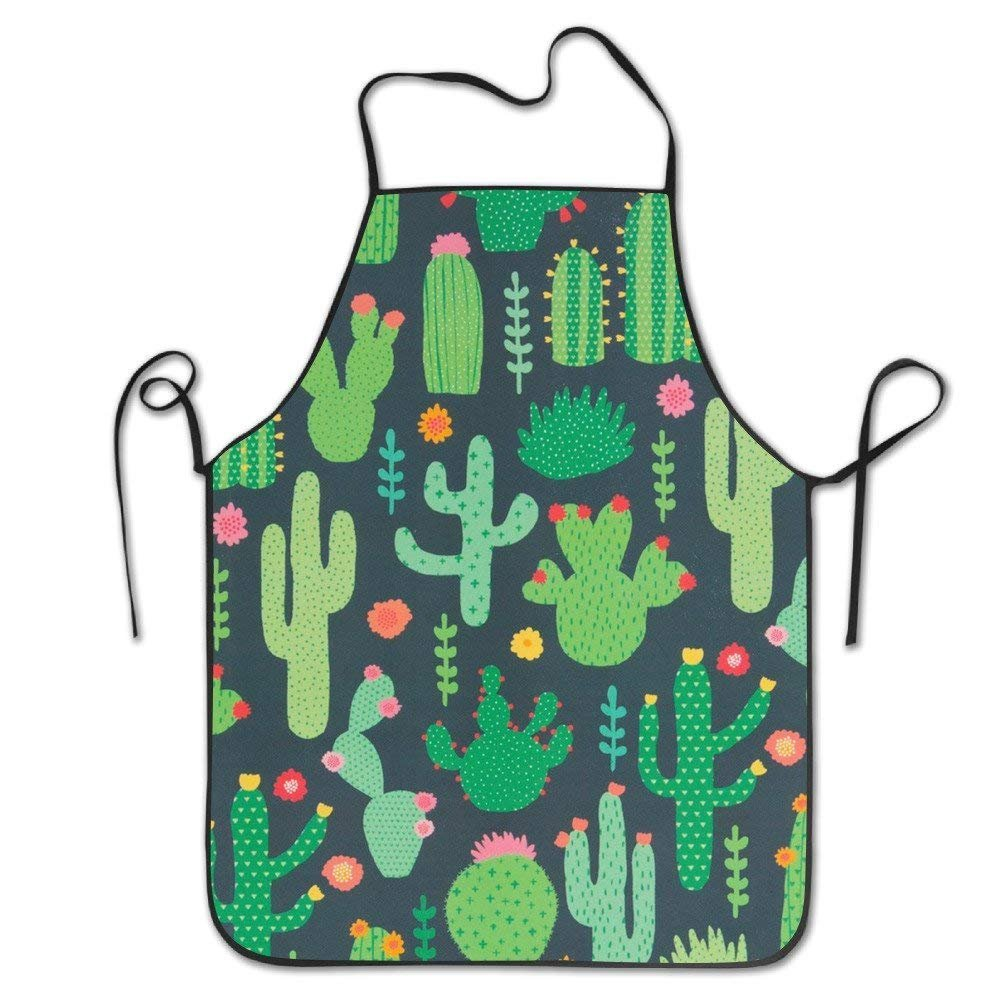 Bhuis Bbq Aprons For Men Funny Kitchen Woman Aprons Aprons Bulk Adult Green Cactus Red Flower Yellow Garden Simple
