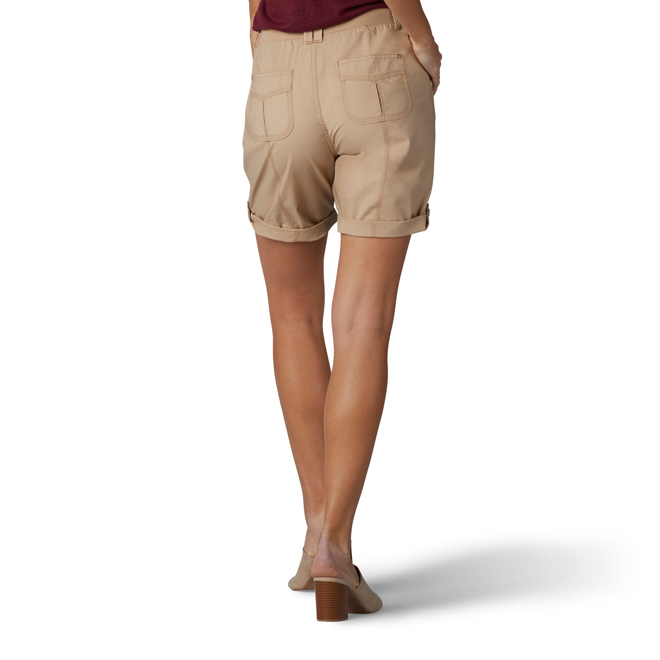 LEE Women's Relaxed Fit Melody Knit Waist Bermuda Short, Wheatgrass, 14 by LEE (Image #2)