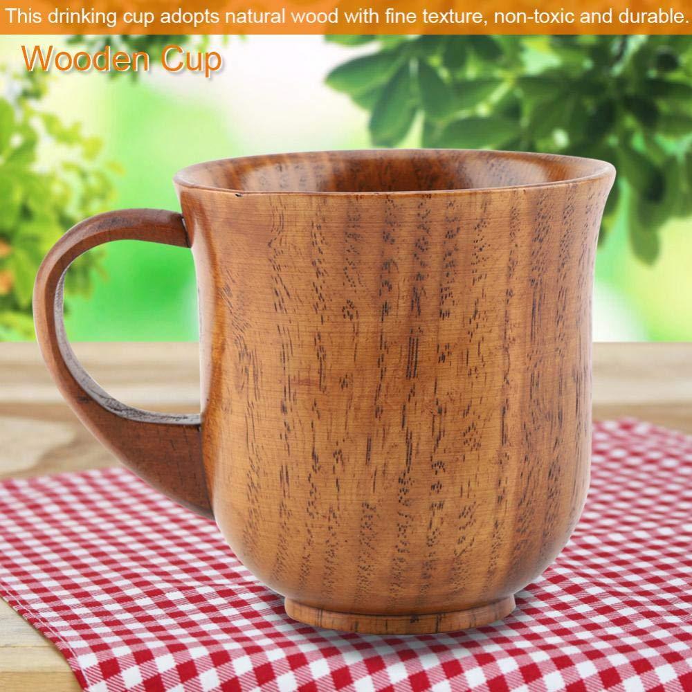 #2 Taza de Madera Natural Port/átil con Manija del Caf/é Taza de Dise/ño del Barril de Brown de Cerveza de Caf/é Respetuoso de Medio Ambiente Socialme-EU