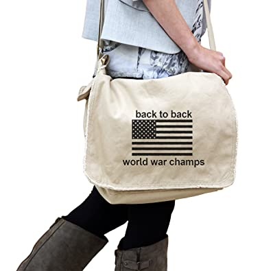 964fc7839cad Image Unavailable. Image not available for. Color: Back to Back World War  Champs Funny America Patriotic Flag ...