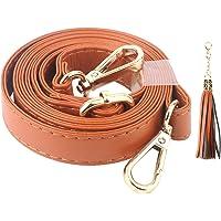 Beaulegan, bandoulière de remplacement pour sac en bandoulière- Cuir microfibre- Remplacement pour sac à main, réglable entre 80 et 150cm de long, 2cm de large, boucle dorée