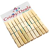 Wooden Clips Bamboo Cloth Pegs Set of 24 Clips