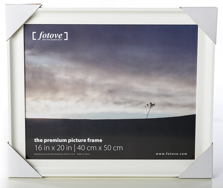 8 in x 10 in, Black Fotove 8x10 Elegance Picture Photo Frame