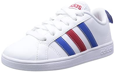 outlet store ea2c1 83df6 adidas Unisex Kids  Advantage VS Low-Top Sneakers, Blanc   Bleu   Rouge