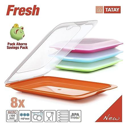 Tatay Lote 8 Porta Embutidos y Alimentos Fresh en Colores Surtidos ...