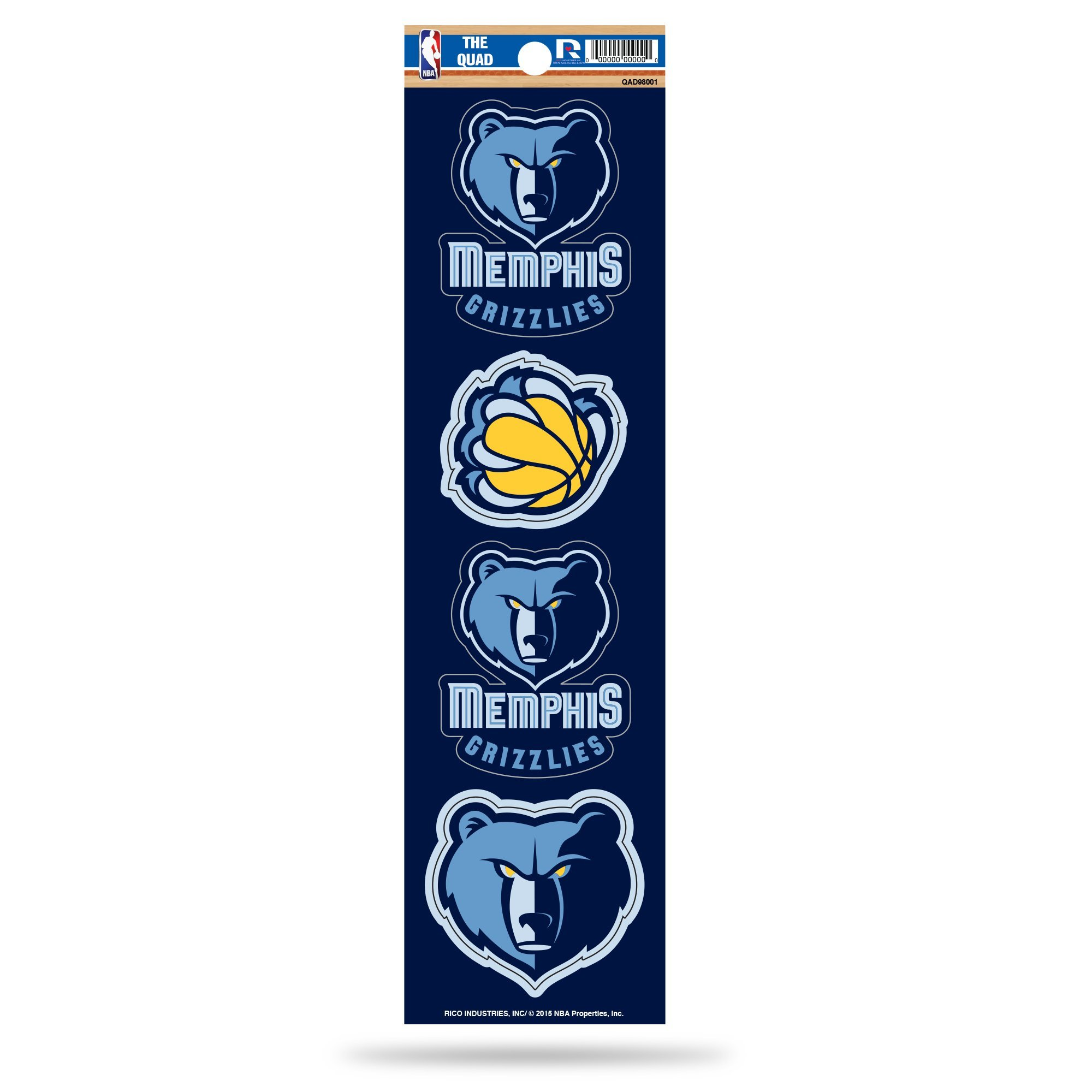 NBA Memphis Grizzlies Quad Decal by Rico