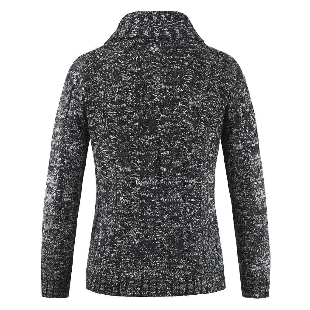 Amazon.com: MODOQO Mens Knit Sweater Long Sleeve Button ...