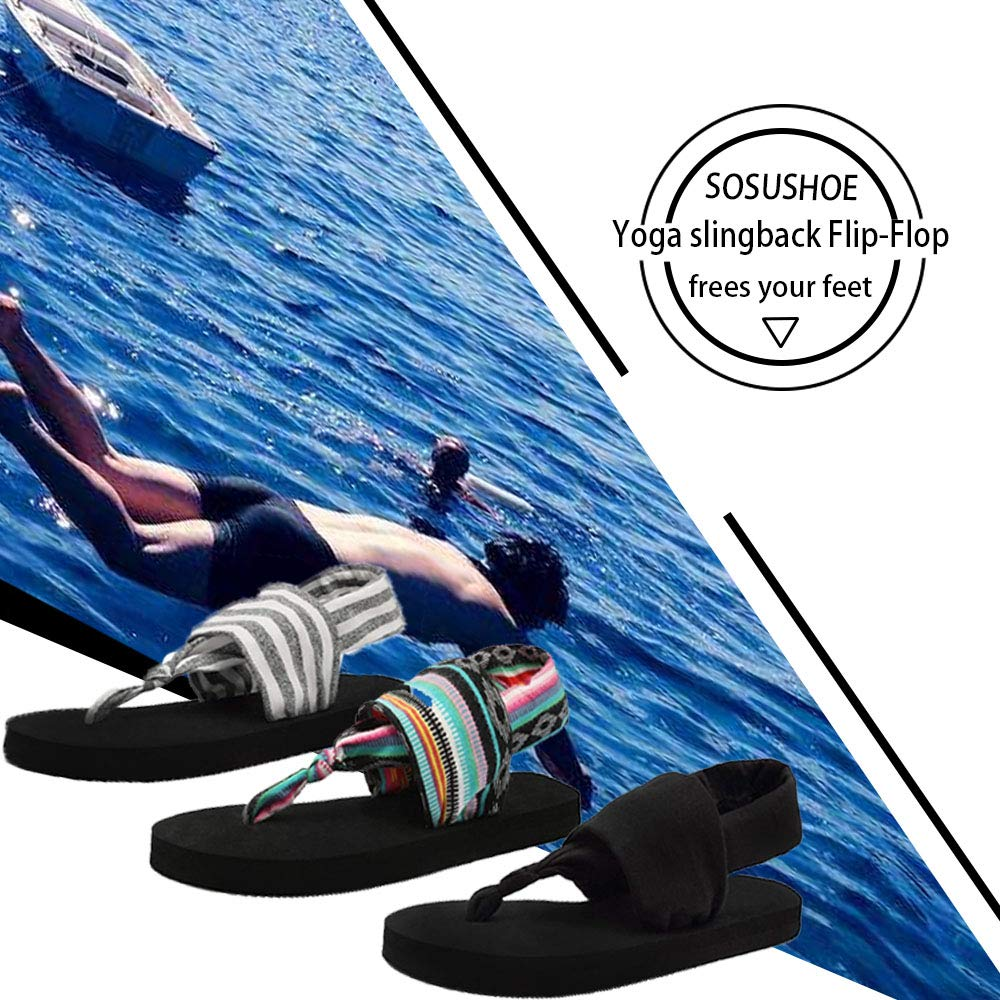 df4179723125a SOSUSHOE Womens Yoga Sling Flip Flop Flats Sandals  Amazon.ca  Shoes    Handbags