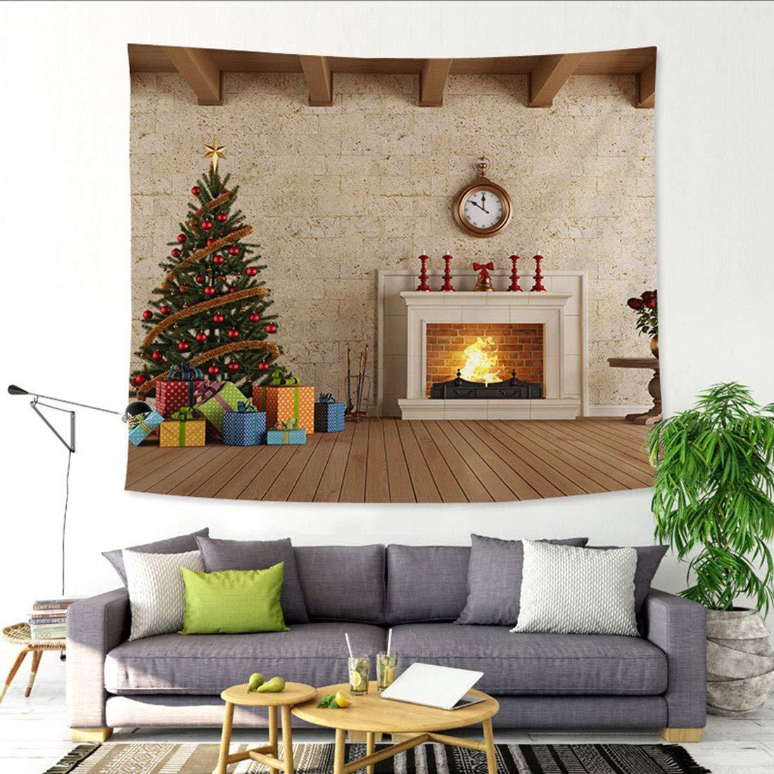 Bverionant Tapisserie Murale Tentures No/ël Tapisseries D/écoration Maison avec /Étoile #6 150x130 S