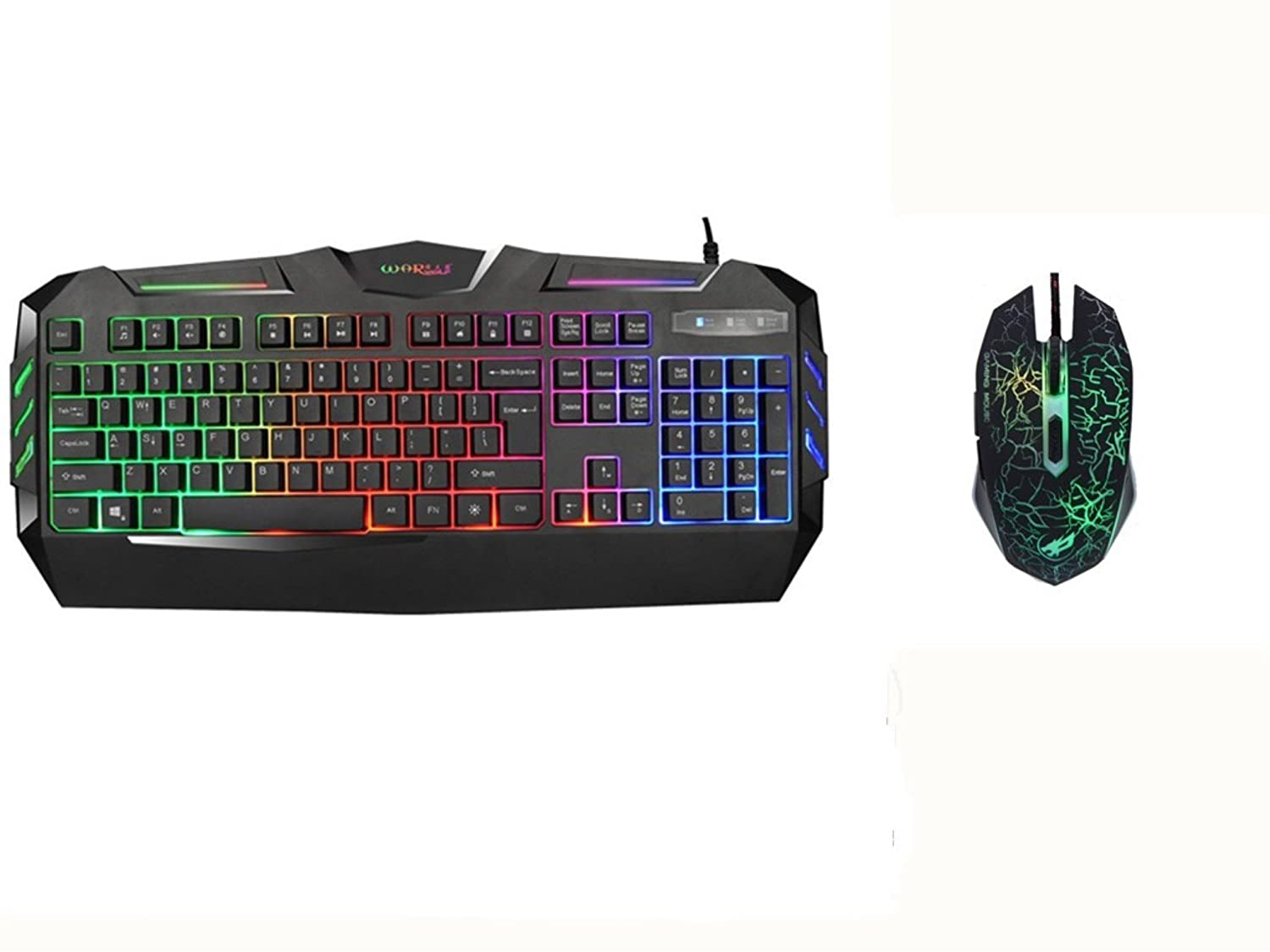 Warwolf K3 Usb Wired Optical Gaming Keyboard With Keybiard Backlight 104 Key Number Computer And Mouse Combo Computers Accessories