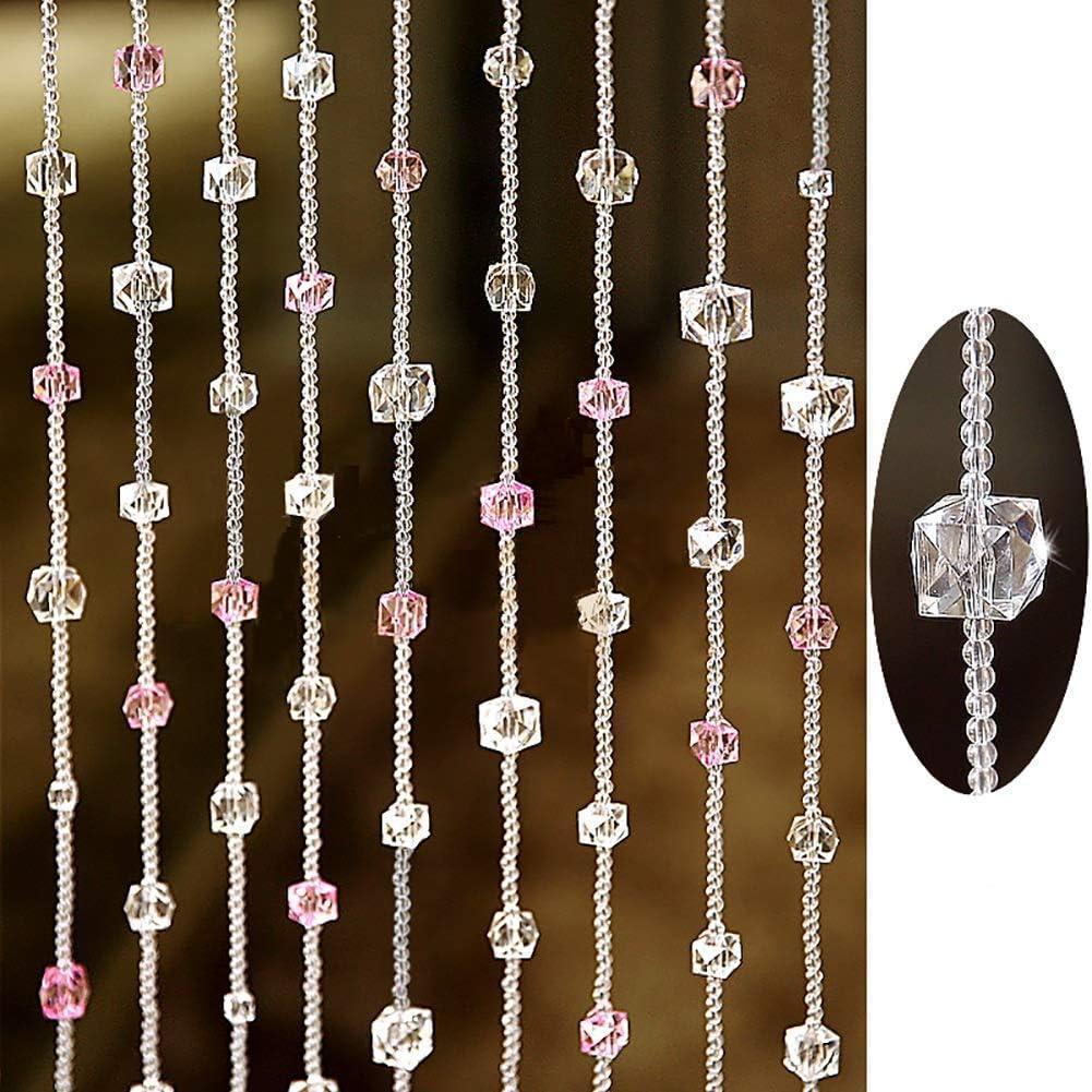 GuoWei-Cortinas de Cuentas Cristal Vaso para Puerta Espacio ...