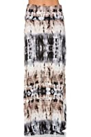 Frumos Womens Hand Craft Tie Dye Span Maxi Skirt Long Skirt