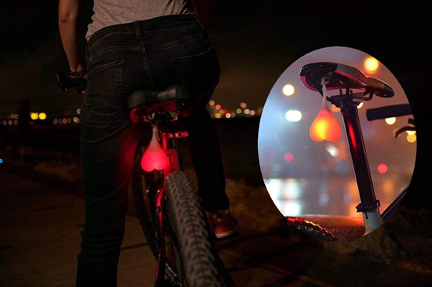 Bike Rear Light Vimmor Creative Silicone Led Bicycle Tail Flashing Safety Warning Lights With Three