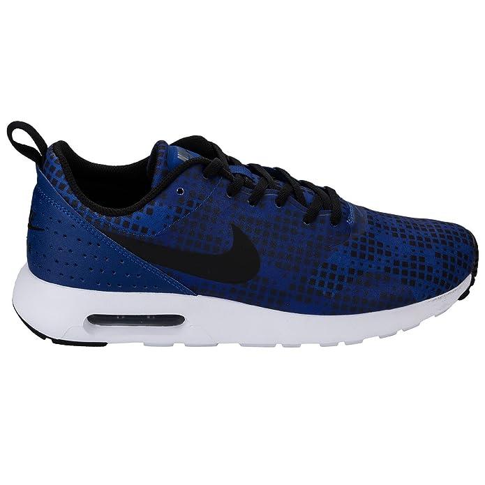 Royal Blau Nike Air Max TAVAS Herren Print Trainer, blau