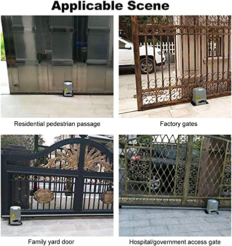 Bespick Kit Motor Puerta Corredera Automático Ajustable,Abrepuertas Automático con Control,Remoto Operador de Puerta de Garaje Automático,Velocidad 20 cm/s: Amazon.es: Bricolaje y herramientas