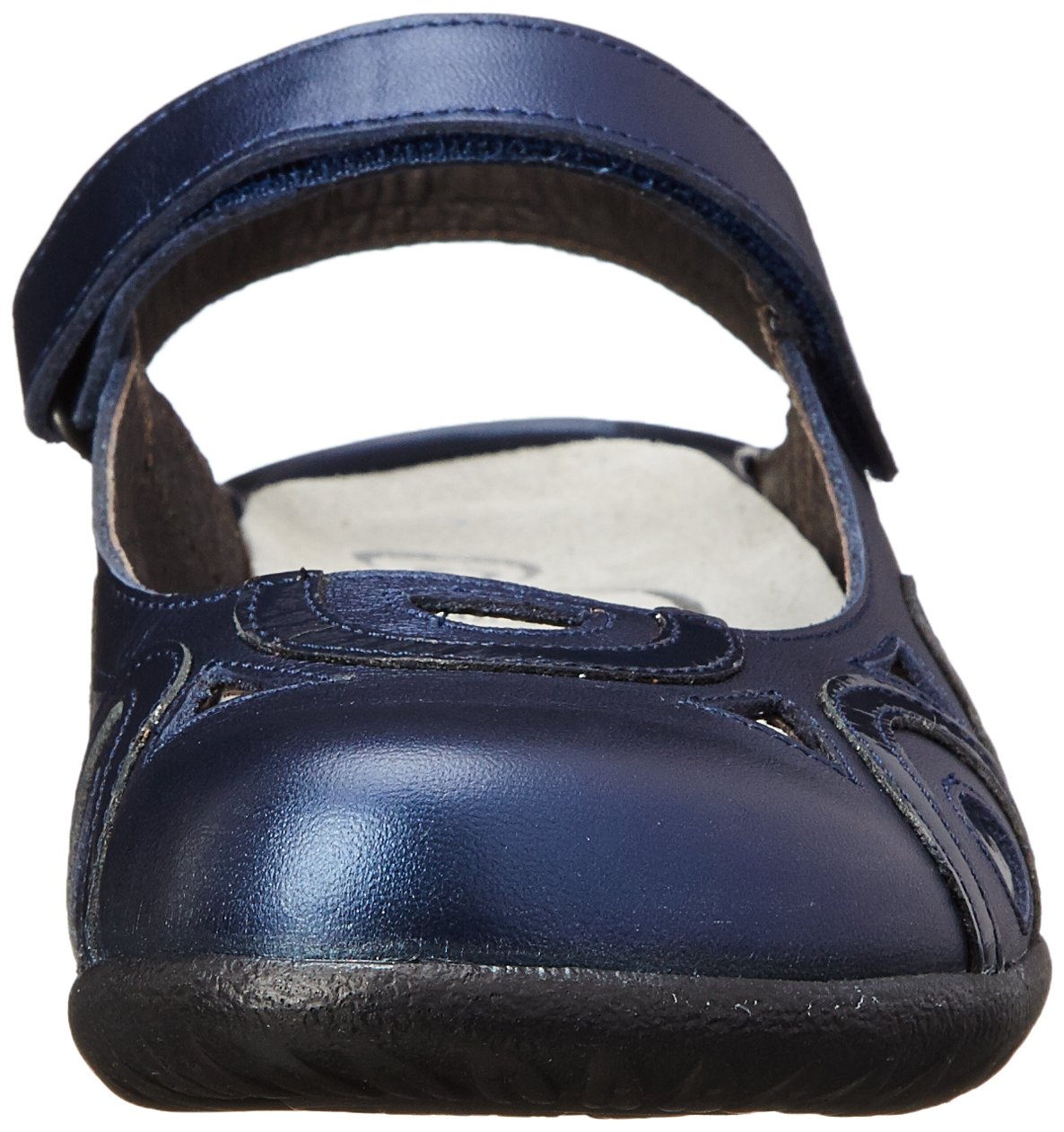 NAOT Women's Rongo Mary Jane Flat B00S7DP6MY 40 EU/8.5-9 M US|Polar Sea Leather/Navy Patent Leather