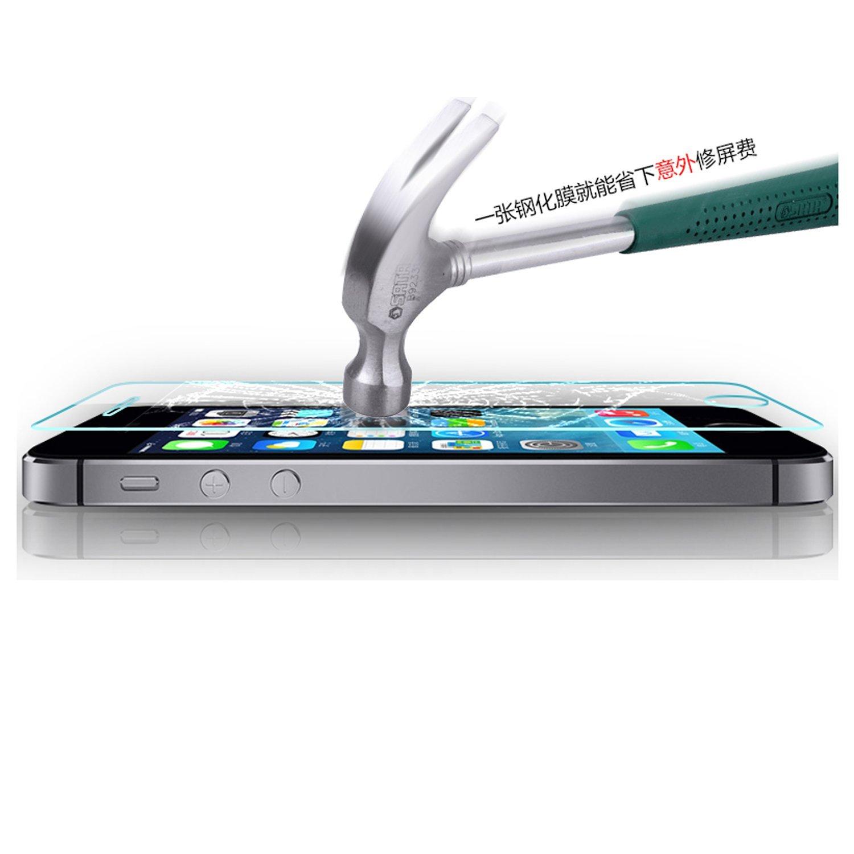 2 unidades Screen Vidrio templado Protector de pantalla para Apple iPhone 5 5S SE Protector de pantalla templado Film Protector de pantalla tanque Cristal Glass 9H
