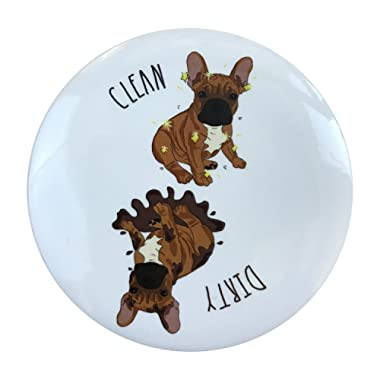Sutter Signs Clean Dirty Dog Dishwasher Magnet (French Bulldog   Frenchie)