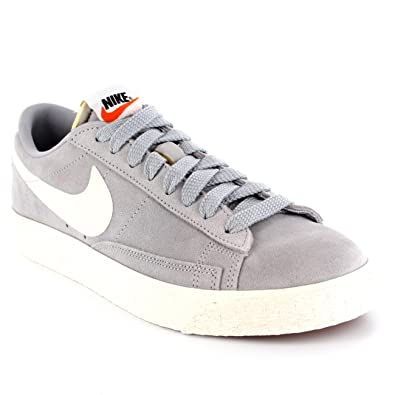 best service b6ce8 8b5d1 Nike Mens Blazer Low Suede Low Cut Shoe Vintage Lace Up Casual Sneakers -  Gray -