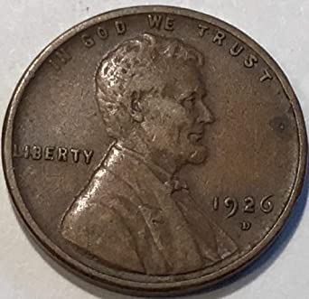 1926 S 1c Lincoln Wheat Cent Penny US Coin F Fine