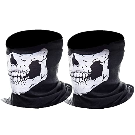Masque Crâne Squelette Masque Moto, 2 Pièces (Blanc)  Amazon.fr ... 73bfd466e9b