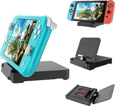 Base de Carga para Nintendo Switch Lite y Nintendo Switch, Soporte de Carga para Switch Lite Dock Station con 2 Ranuras para Tarjetas de Juego: Amazon.es: Electrónica