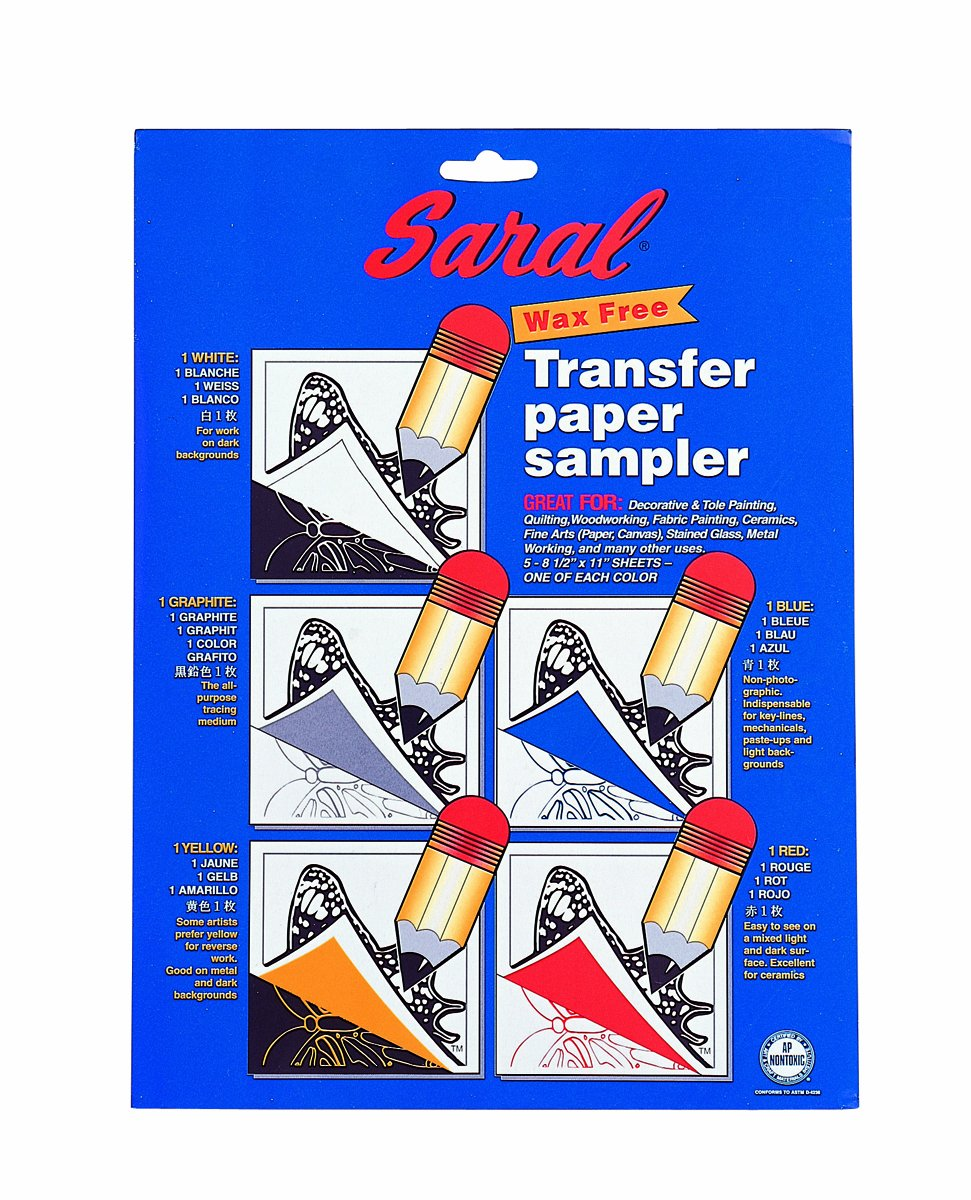 Dritz Notions DRISRL10 Saral Assorted Tracing Paper, 8 1/2 x 11 - 5 Count Vista Partners
