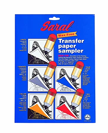 Amazon.com: SARAL WAX-FREE Transfer (Tracing) Paper-SAMPLE PACK ...
