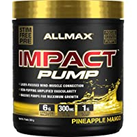 ALLMAX Nutrition - IMPACT Pump - Non-Stim Pump Pre-workout - Pineapple Mango - 360 Gram