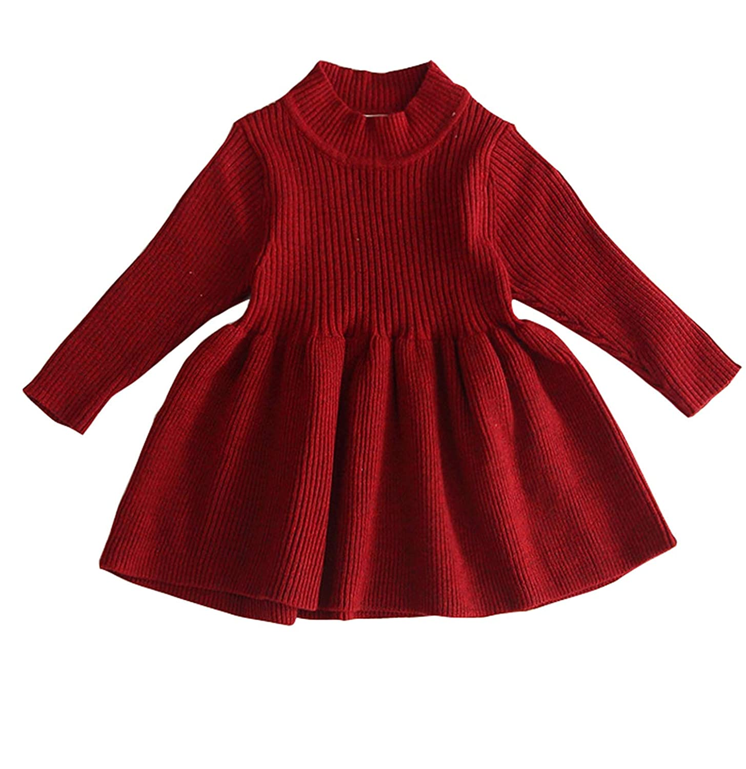 Baby Girl Ruffle Knit Dress 1st 2nd Birthday Long Sleeve Knitted Tulle Tutu Dresses for Wedding Photography