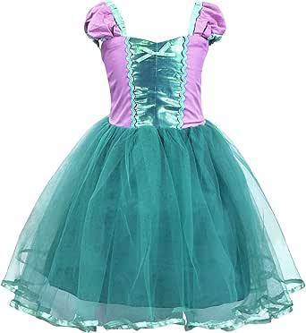 Cotrio Princess Cinderella/Mermaid/Rapunzel/Aurora/Belle Dress Up Costume for Baby Girls