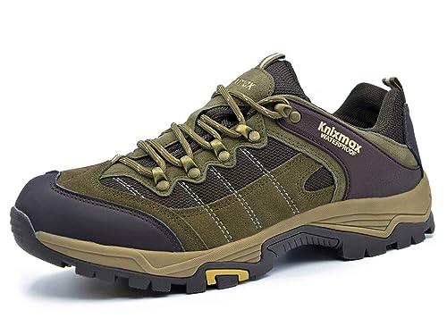 441edc69de4 Knixmax Men's Women's Waterproof Hiking Shoes Lightweight Walking Trainers  Low Rise Outdoor Boots