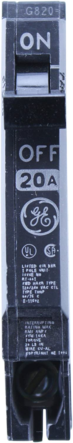 Ge THQP120 Type THQP 1 Pole 20A 120/240V Plug-In Circuit Breaker (10 Pack)