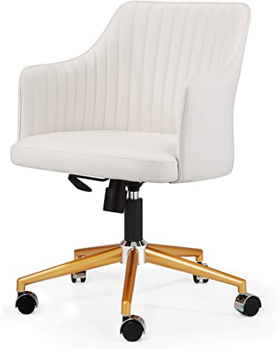 MEELANO M-64 Office Chair Gold White