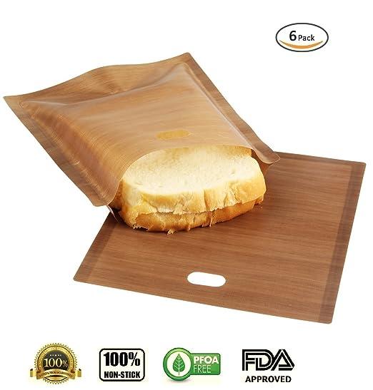 homejun tostadora bolsas (paquete de 6) reutilizable y 100 ...