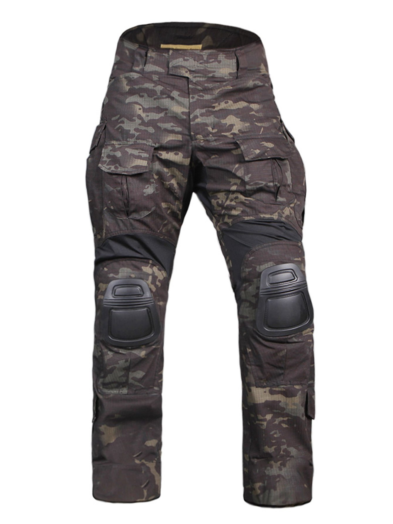 EMERSONGEAR Tactical Camouflage Pants with Knee Pads Military Combat Trousers Army for Airsoft Paintball MCBK Small