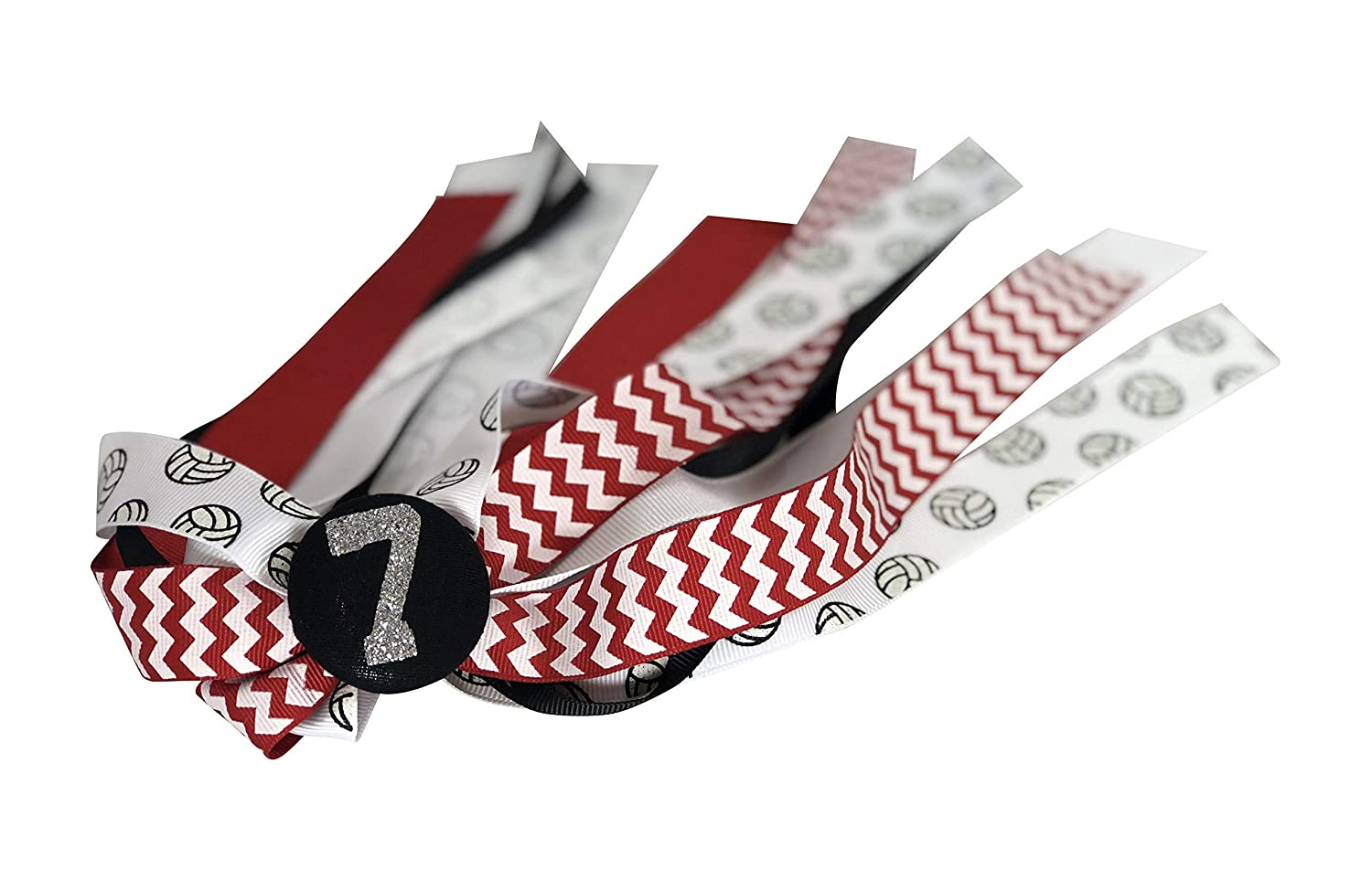 Soccer Hair Streamers Ribbon Bow Free personalization Choose your colors!