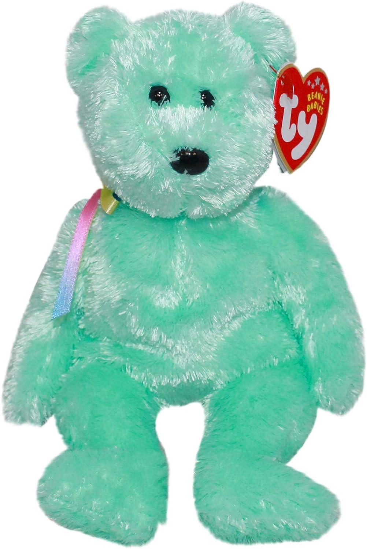1 X TY Beanie Baby - SHERBET the Bear (Green Version)