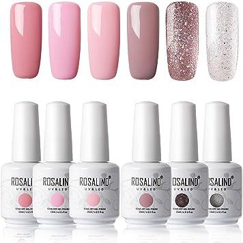 ROSALIND gel esmalte de uñas set Salon Soak Off UV LED barniz Lacquer 6 Pack 15 ml (Summer Set): Amazon.es: Belleza