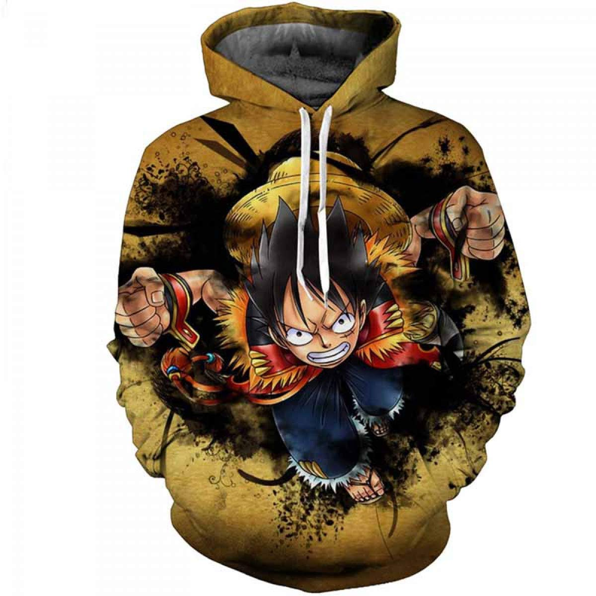Amazon.com: FLAMINGO_STORE one Piece Hoodie 3D Hoodies Men Clothes Sweatshirts One Piece Luffy Pullovers: Clothing